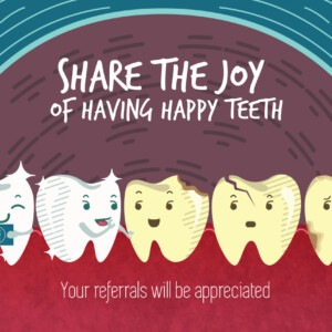 Marketing For Dentistry - Share the joy of having a happy teeth